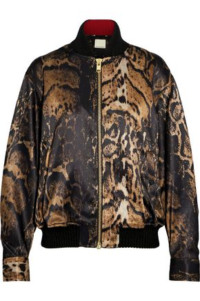BY MALENE BIRGER Printed satin bomber jacket