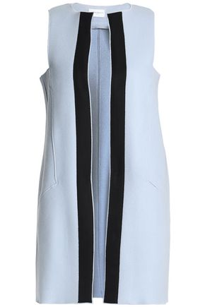 AMANDA WAKELEY Grosgrain-trimmed wool-blend vest