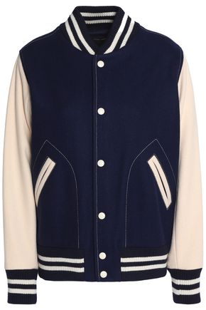 MARC JACOBS Appliquéd wool-blend bomber jacket