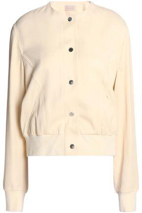 CHRISTOPHER KANE Floral-print satin-crepe bomber jacket