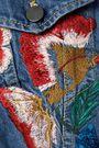 ALICE + OLIVIA Chloe embellished embroidered denim jacket