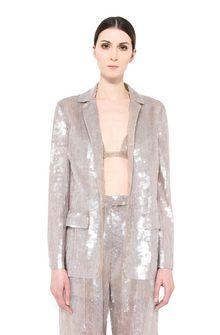 ALBERTA FERRETTI Single-breasted jacket with sequins Blazer Woman a