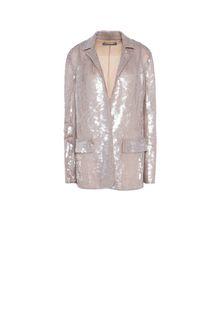 ALBERTA FERRETTI Single-breasted jacket with sequins Blazer Woman e