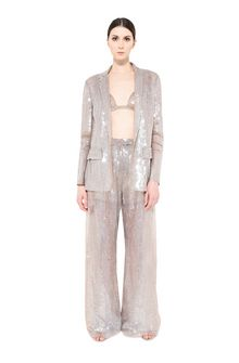 ALBERTA FERRETTI Single-breasted jacket with sequins Blazer Woman f