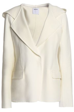DKNY Cotton-blend hooded jacket