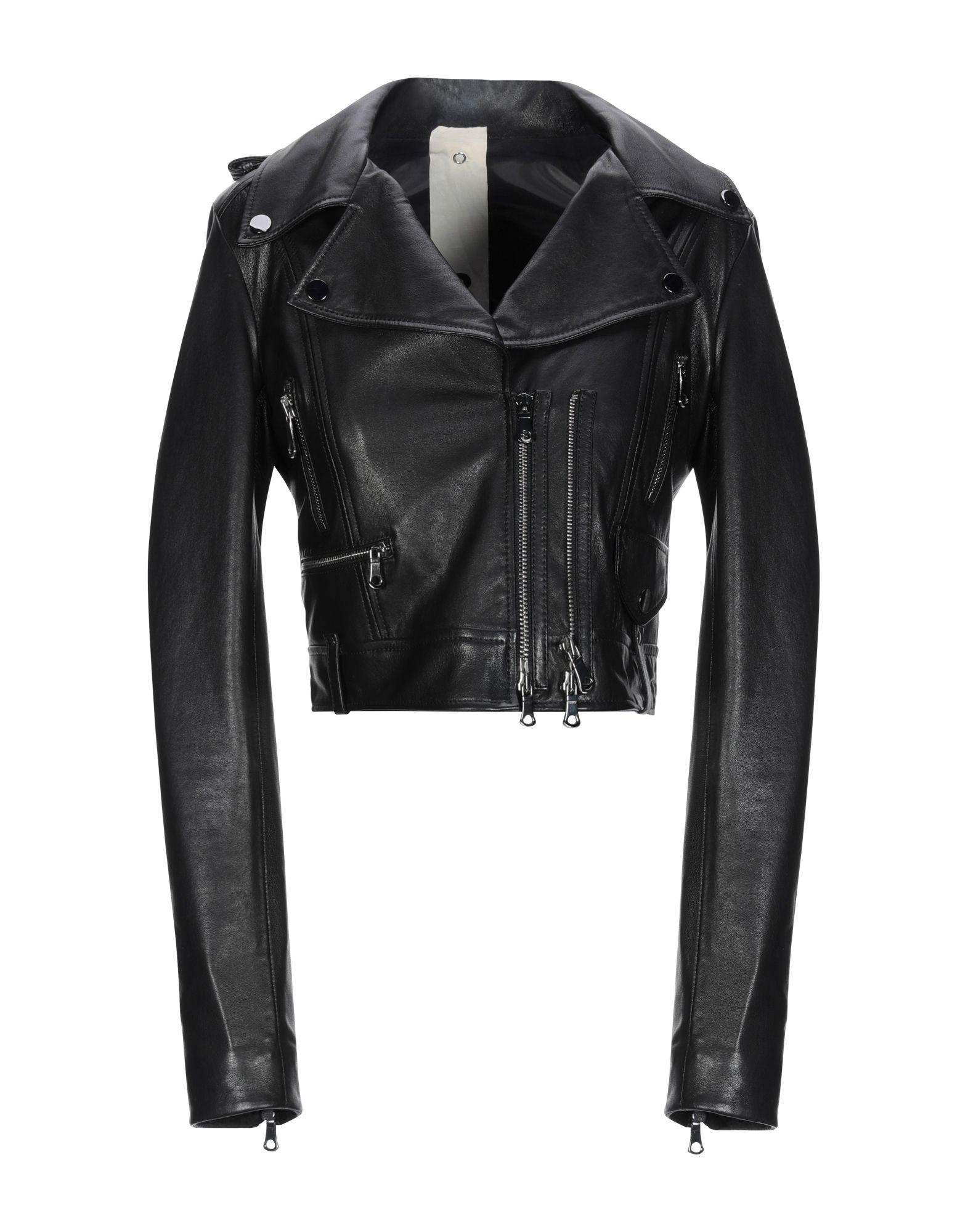 《期間限定 セール開催中》3OTTO3 レディース ブルゾン ブラック 44 革 100% / 紡績繊維