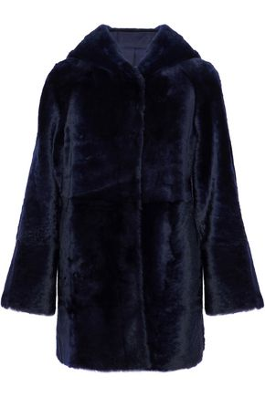 DROMe Reversible shearling hooded coat