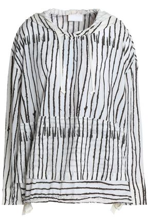 DKNY Printed shell hooded jacket