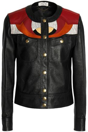 COACH Patchwork leather and suede jacket