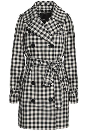 COACH Gingham cotton-blend gabardine trench coat