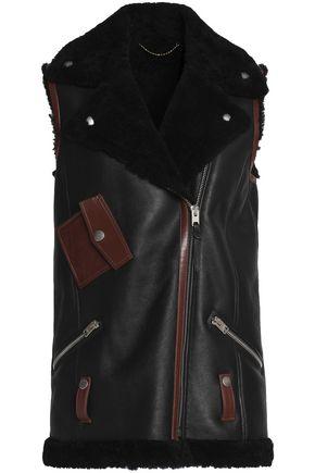 COACH Shearling biker vest