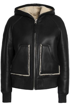 COACH Shearling hooded jacket