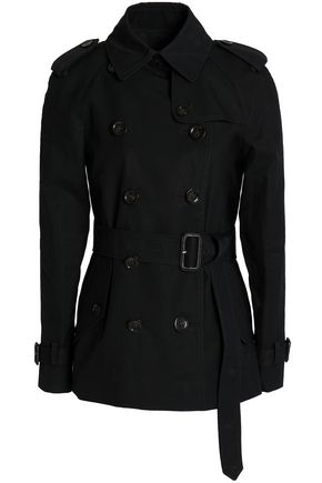 COACH Double-breasted cotton-gabardine jacket