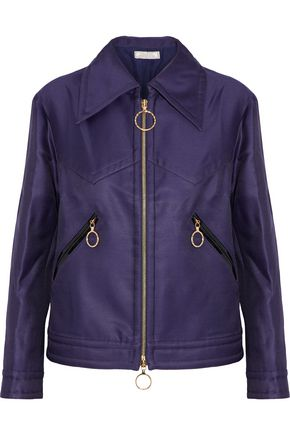 NINA RICCI Wool and silk-blend shell jacket