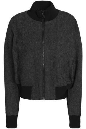 DKNY Linen-piqué bomber jacket