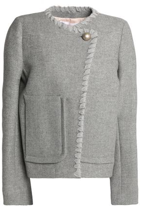 SEE BY CHLOÉ Whipstitched-trimmed wool-blend jacket