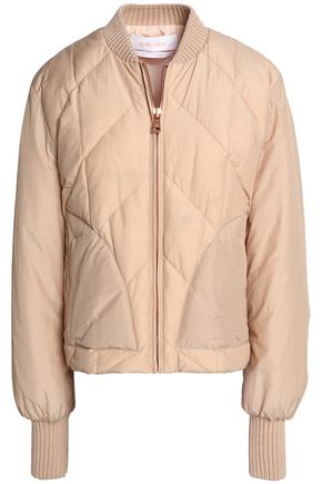 SEE BY CHLOÉ Quilted cotton-blend shell down bomber jacket