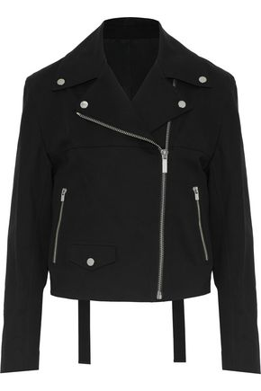 HELMUT LANG Stretch-cotton biker jacket