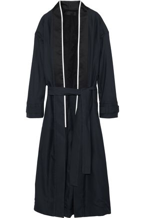 HAIDER ACKERMANN Silk satin-trimmed linen coat