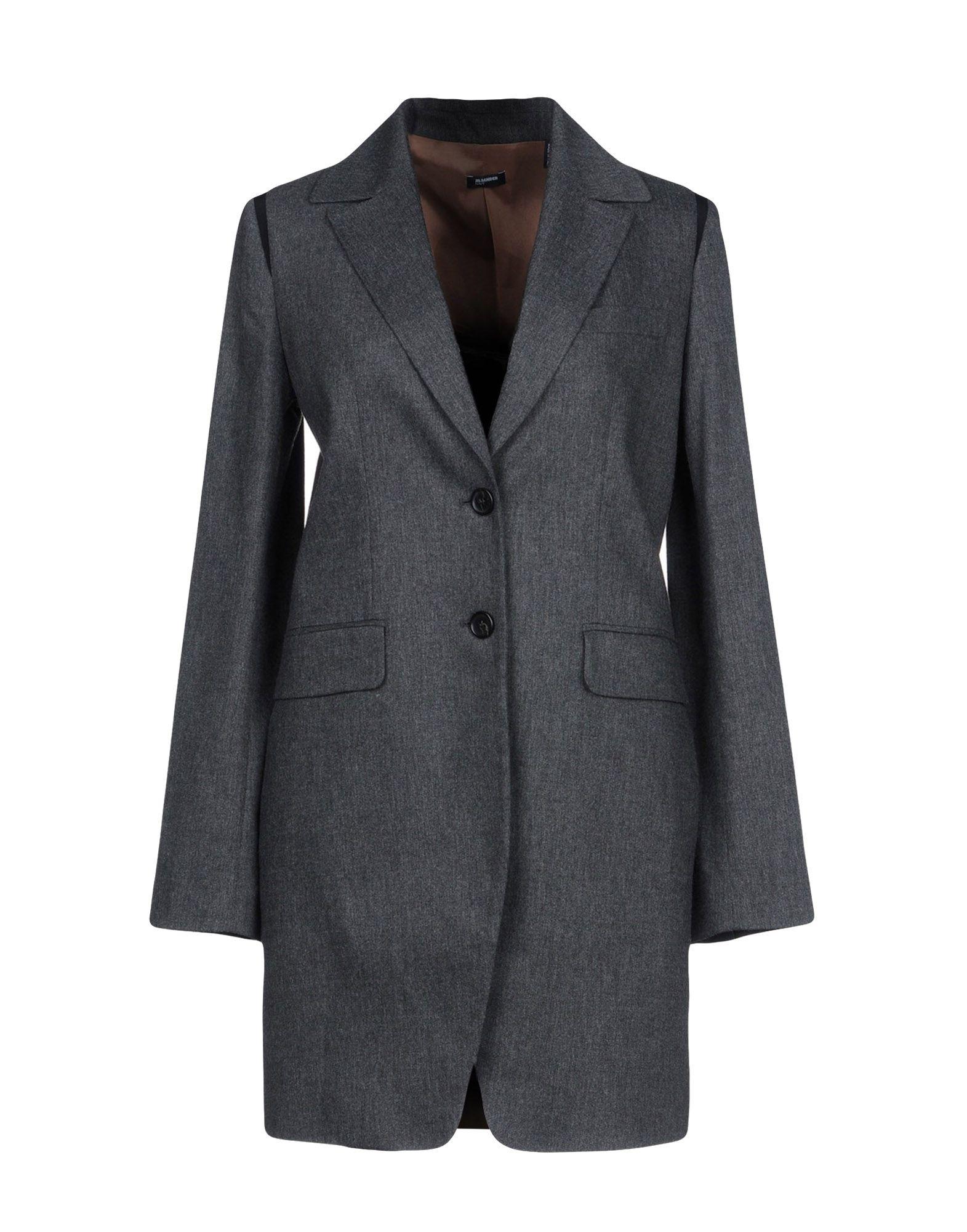 Фото - JIL SANDER NAVY Легкое пальто active cut out elastic vest in navy