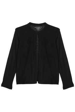 MAJESTIC FILATURES Laser-cut suede-paneled linen jacket