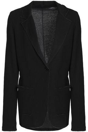 MAJESTIC FILATURES Frayed cotton and cashmere-blend blazer