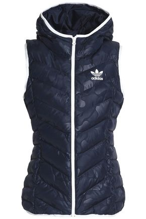 ADIDAS ORIGINALS Quilted coated shell hooded vest