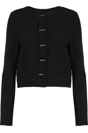 ELIE TAHARI Geneva cropped stretch-knit jacket