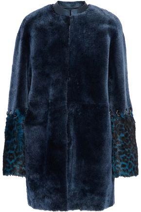 ELIE TAHARI Linda reversible goat hair-paneled shearling coat