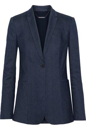 ELIE TAHARI Ivy pinstriped linen-blend blazer