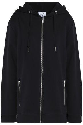 ZOE KARSSEN Printed cotton-terry hooded sweatshirt
