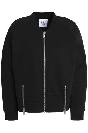 ZOE KARSSEN Zip-detailed cotton-blend jersey jacket