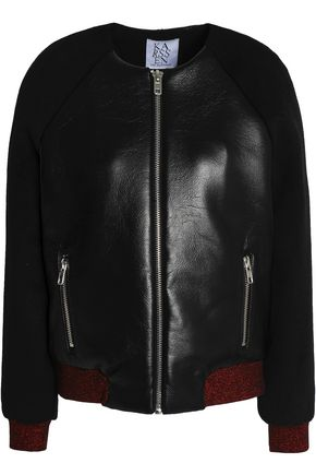 ZOE KARSSEN Faux leather bomber jacket