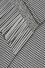 ALEXANDER WANG Metallic fringe-trimmed houndstooth cady jacket
