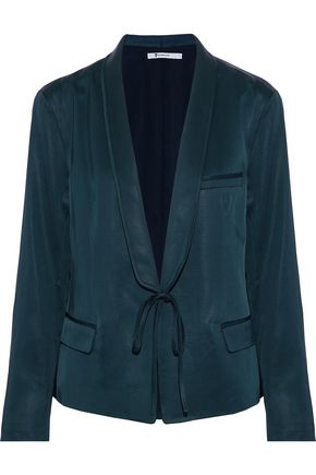 T by ALEXANDER WANG Satin-faille blazer