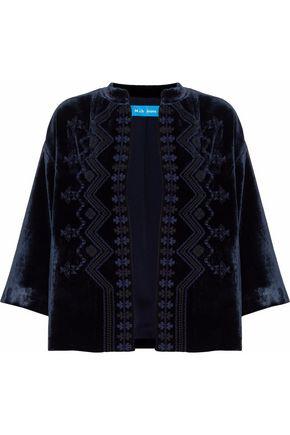 M.I.H JEANS Embroidered velvet jacket