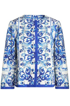 DOLCE & GABBANA Printed cotton-blend jacquard jacket
