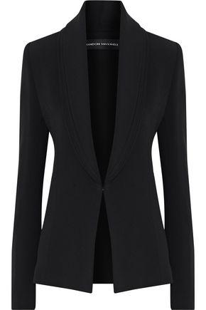 BRANDON MAXWELL Layered crepe blazer
