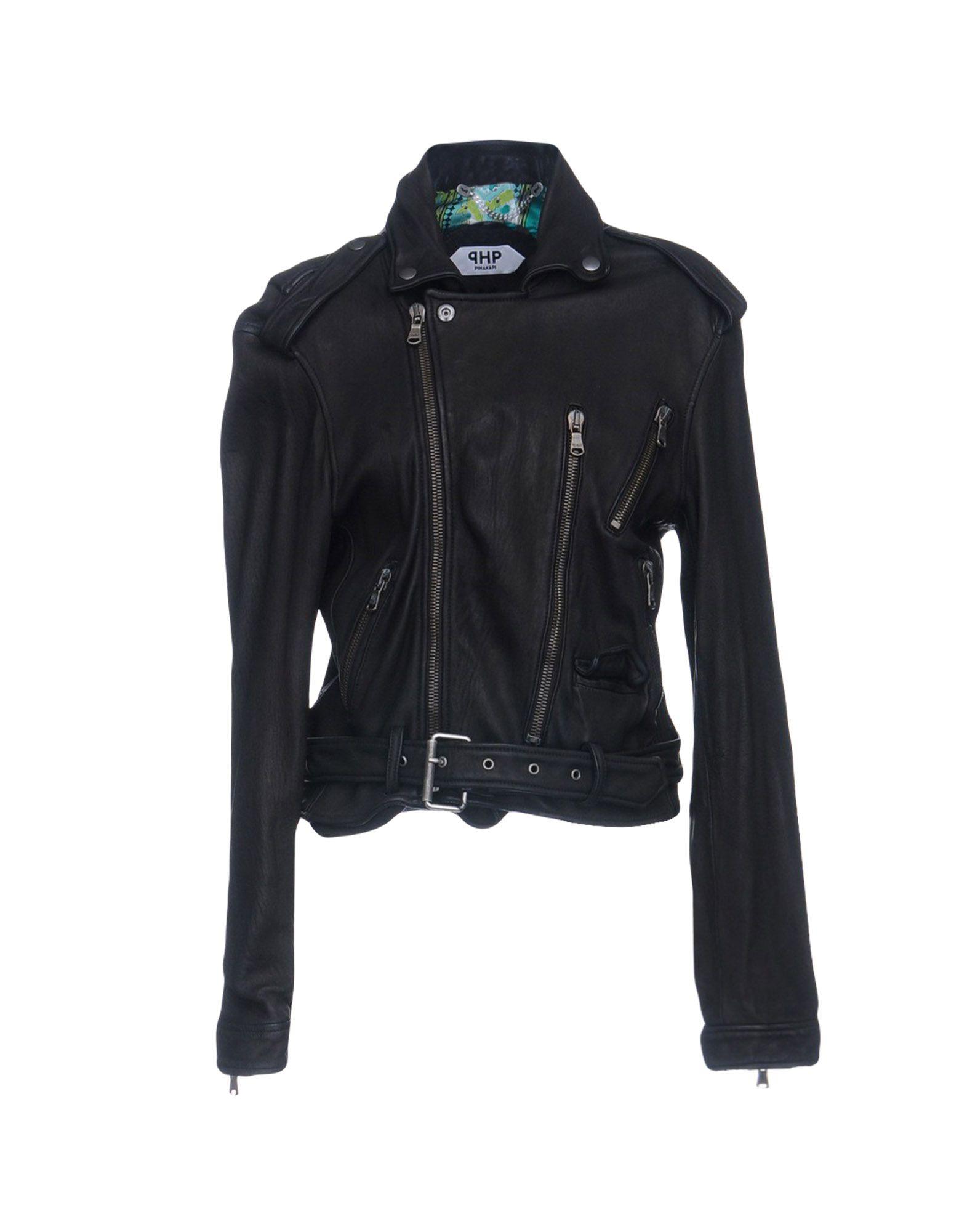 PIHAKAPI Biker Jacket in Dark Brown