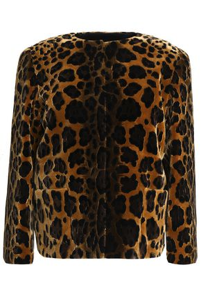 DOLCE & GABBANA Leopard-print velvet jacket