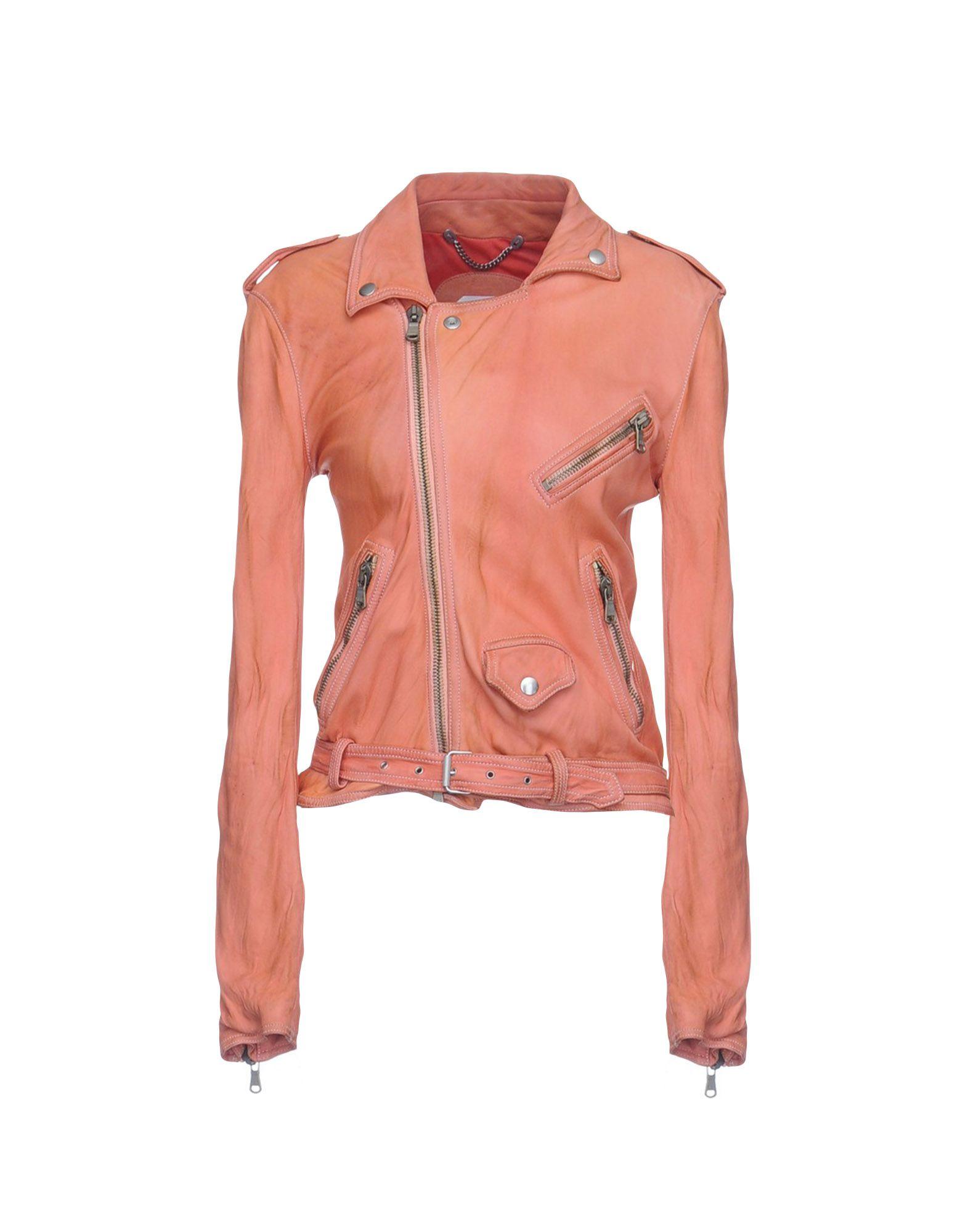 PIHAKAPI Biker Jacket in Salmon Pink
