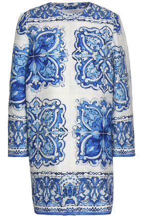 DOLCE & GABBANA Printed cotton and silk-blend jacquard coat