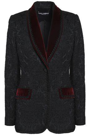 DOLCE & GABBANA Velvet-trimmed jacquard blazer