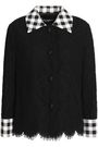 DOLCE & GABBANA Gingham-trimmed cotton-blend corded lace jacket