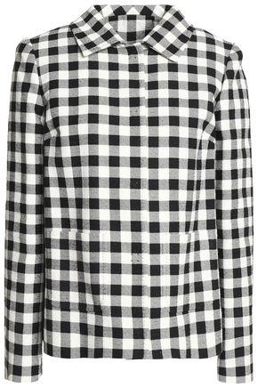 DOLCE & GABBANA Gingham cotton-flannel jacket