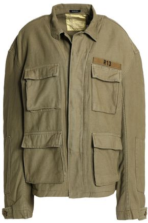 R13 Abu appliquéd cotton-canvas jacket