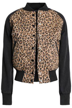 R13 Leopard-print cotton-canvas bomber jacket