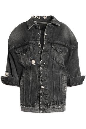 R13 Oversized Trucker distressed denim jacket