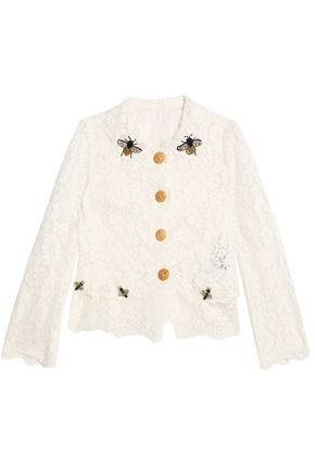 DOLCE & GABBANA Embellished corded lace jacket