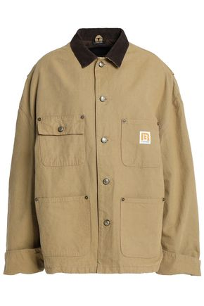 R13 Velvet-trimmed cotton-canvas jacket